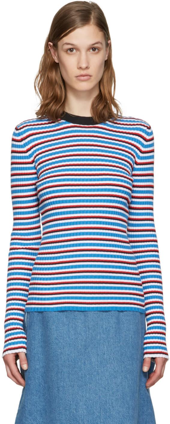 Msgm Multicolor Striped Pullover