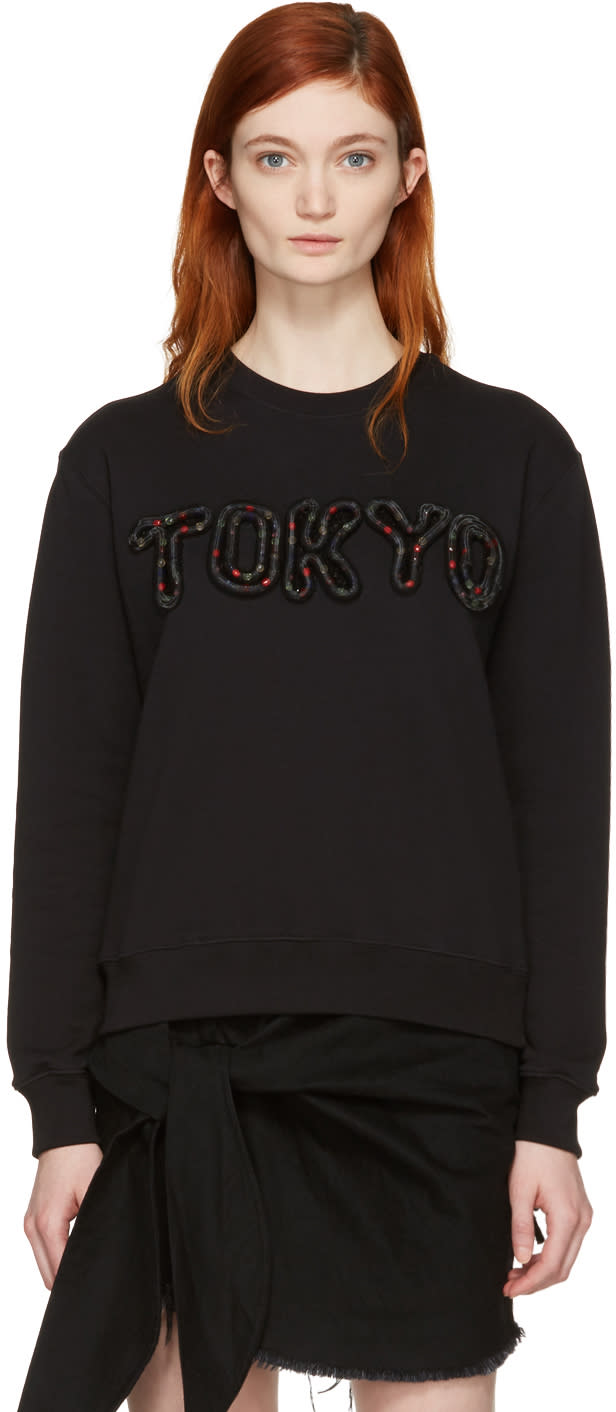 Msgm Black Embroidered tokyo Pullover