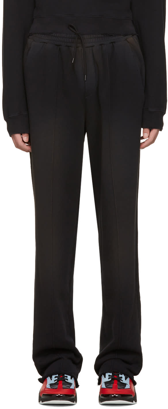 Msgm Black Washed Out Lounge Pants