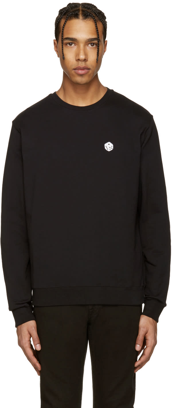 Msgm Black Dice Patch Pullover