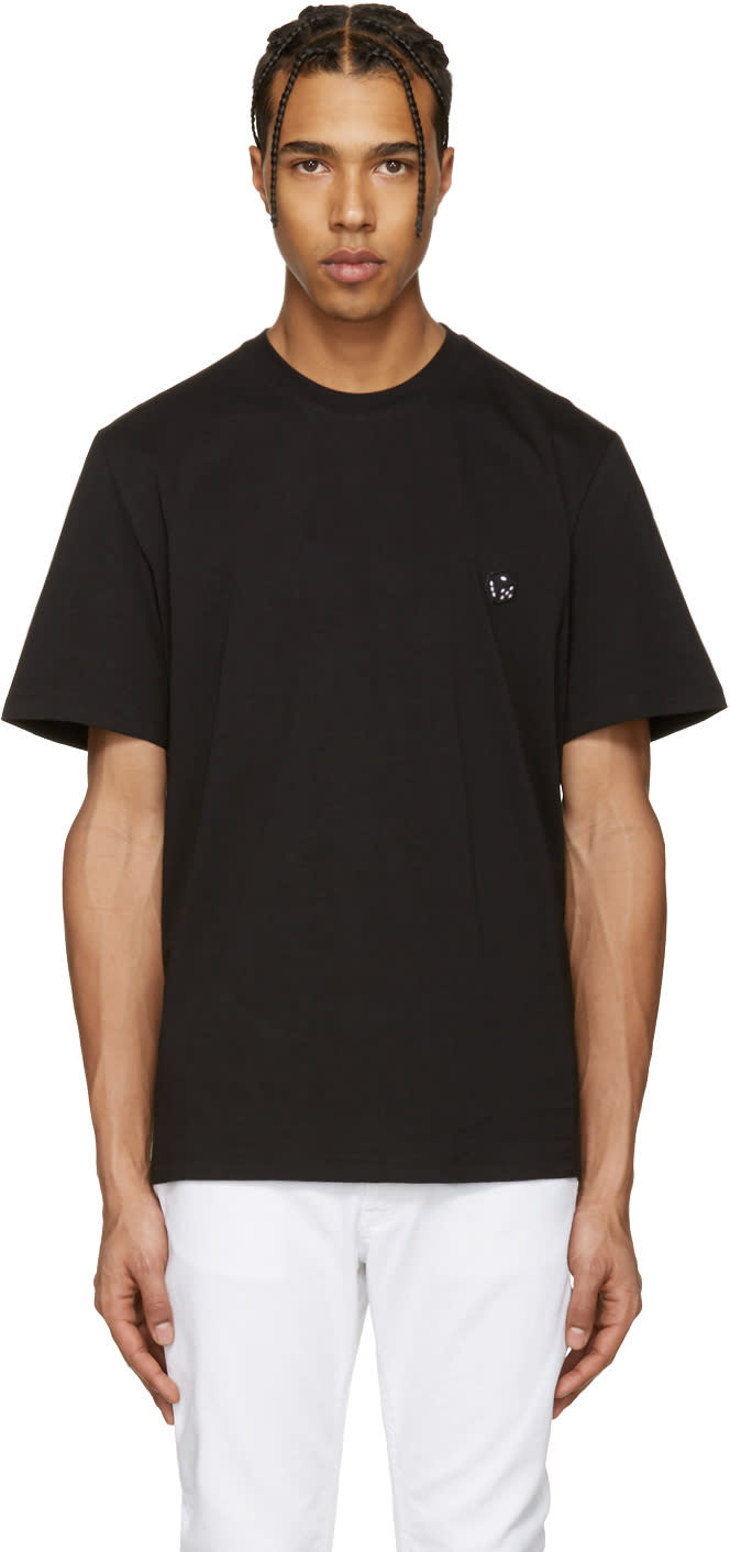 Msgm Black Dice Patch T-shirt