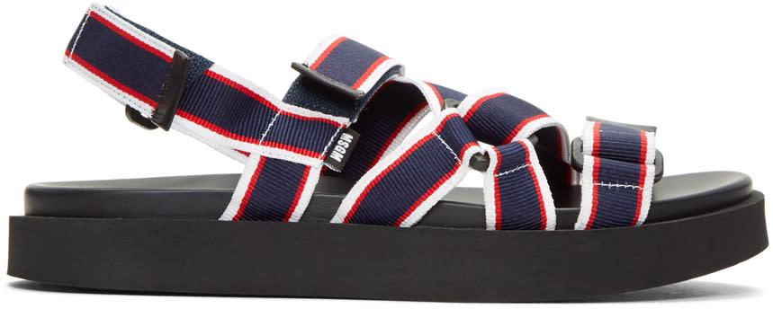 Msgm Tricolor Multi Strap Wrap Sandals