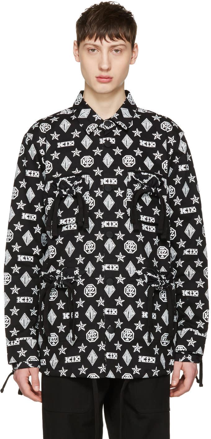 Ktz Black Monogram Latin Jacket