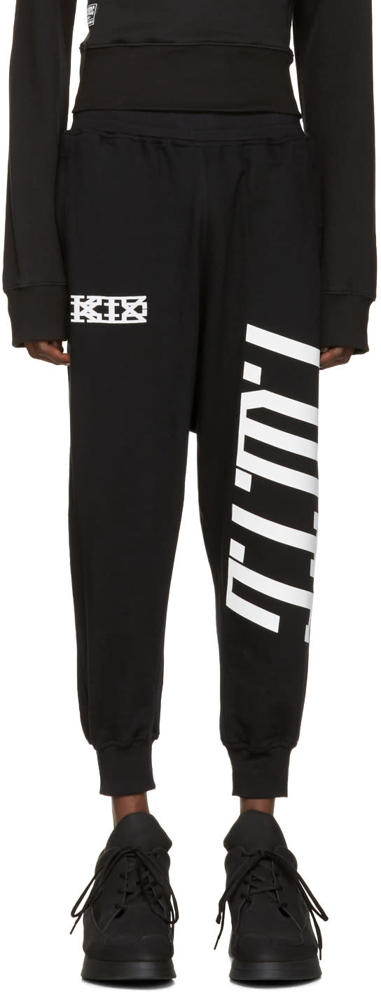 Ktz Black Harem Lounge Pants