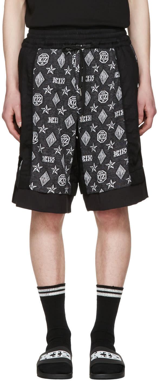 Ktz Black Inside Out Monogram Shorts