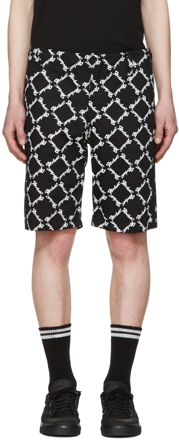 Image of Ktz Black Baggy Latin Shorts