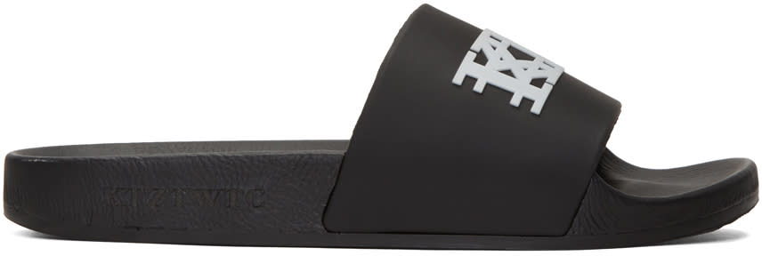 Ktz Black Logo Slide Sandals