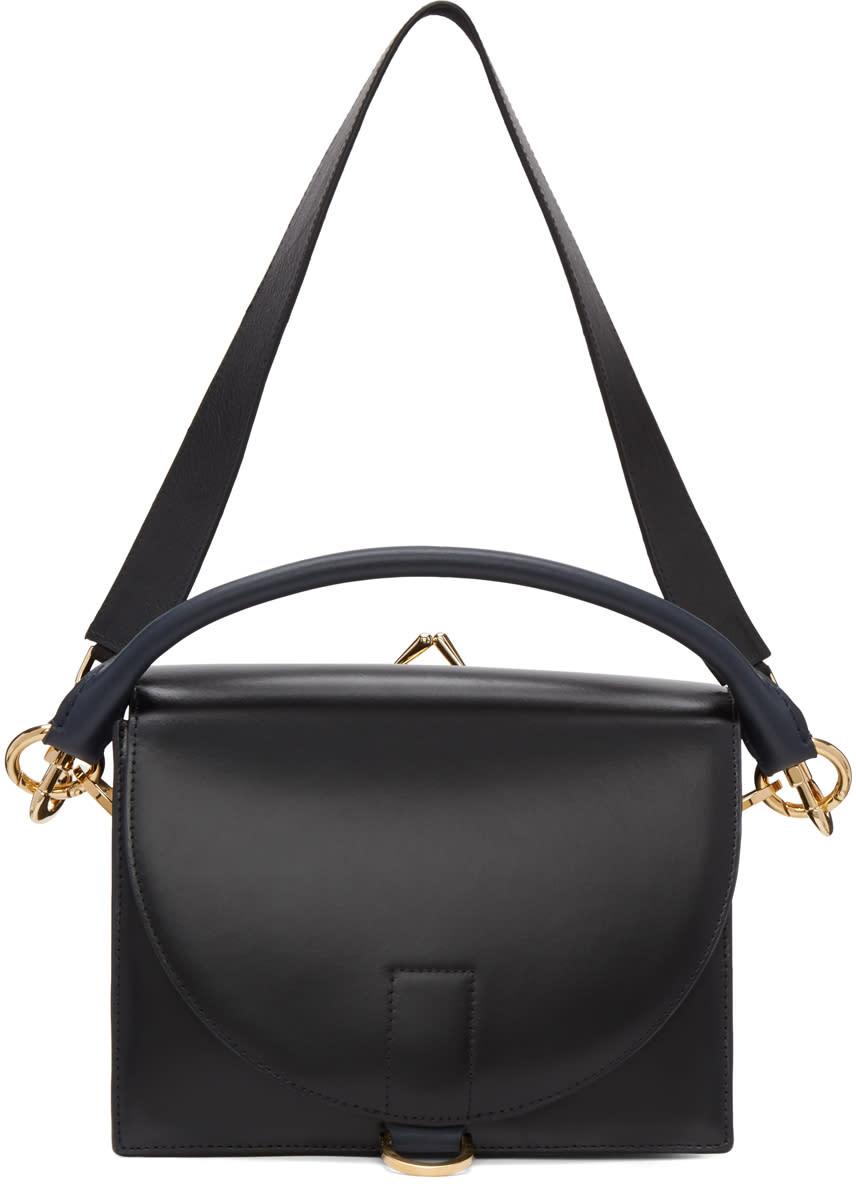 Sacai Black Leather Satchel