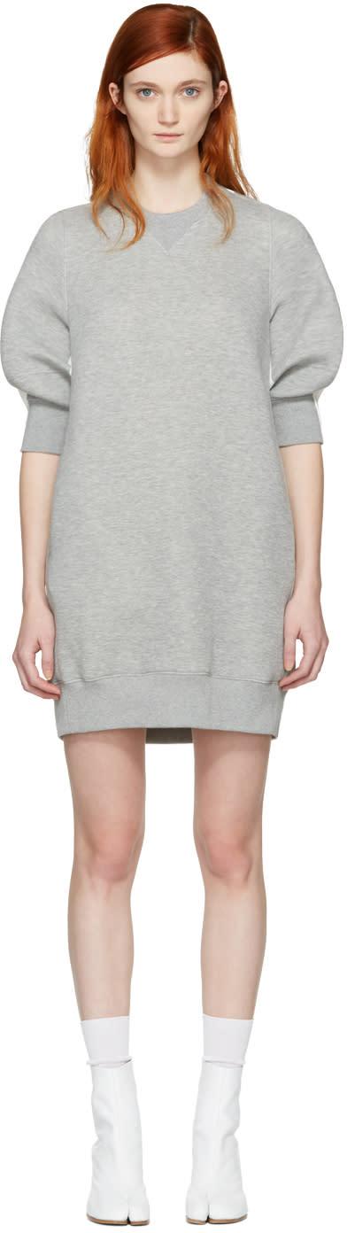 Sacai Grey Sweatshirt Dress