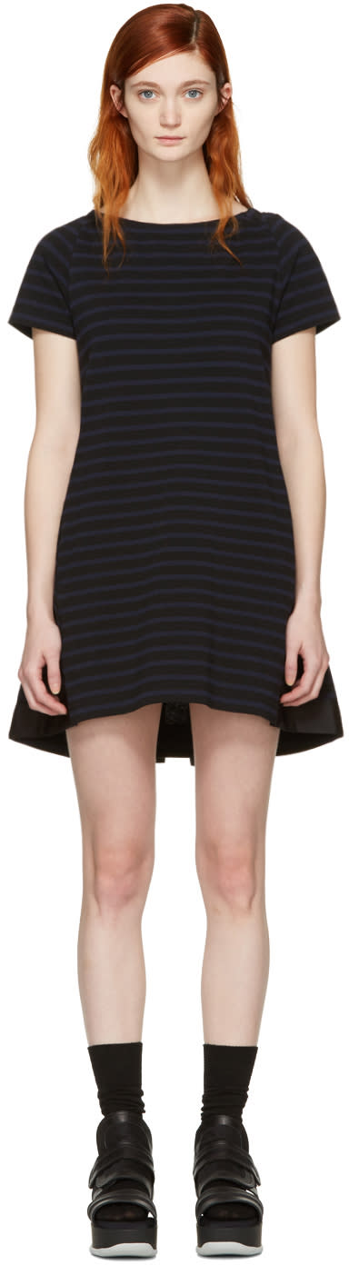 Sacai Black Striped Dixie Dress