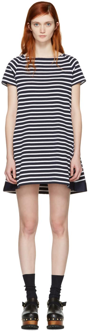 Sacai Navy Striped Dixie Dress
