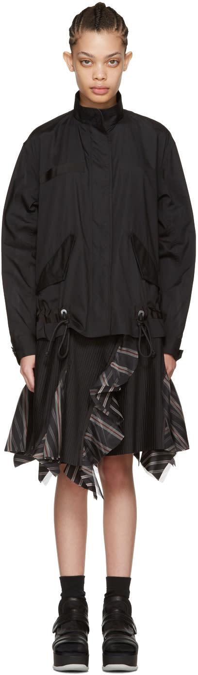 Sacai Black Bomber Top Dress