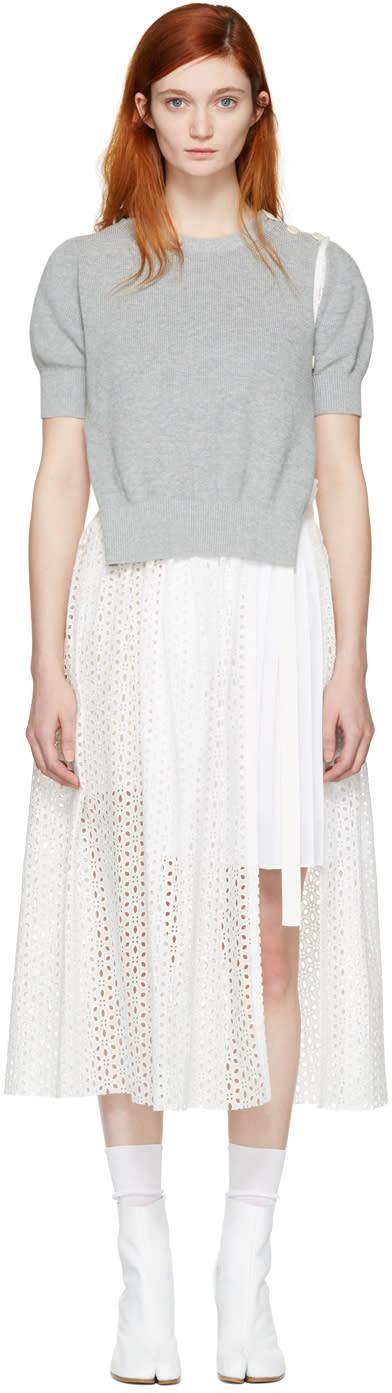 Sacai White Dot Lace Dress