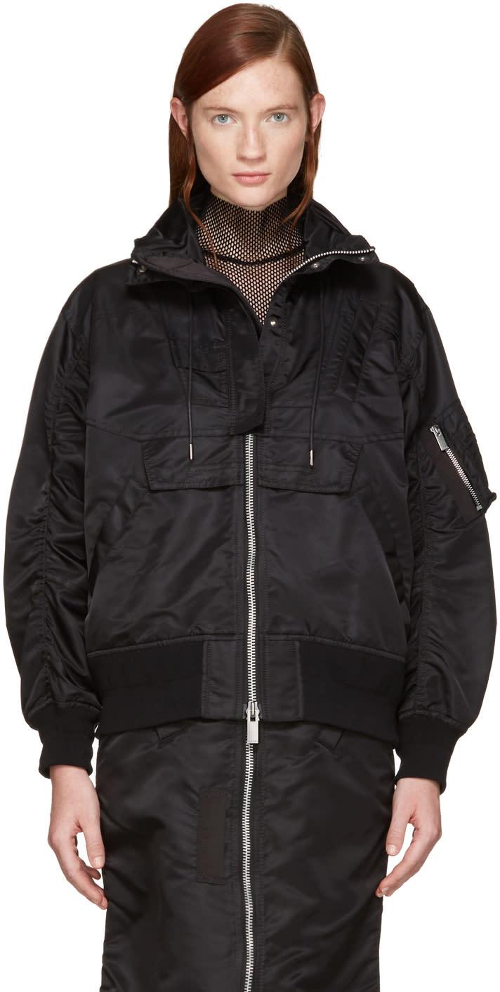 Sacai Black Ma-1 Jacket