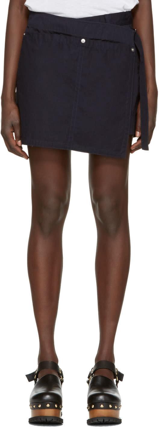 Sacai Navy Overdyed Shorts