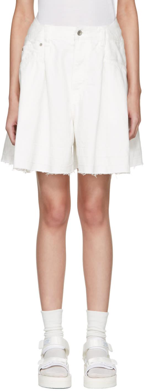Sacai White Denim Shorts