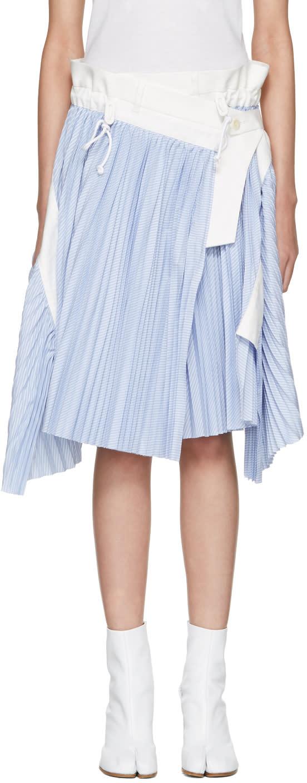 Sacai Blue Striped Cole Skirt