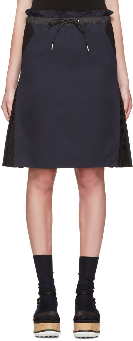 Sacai Navy Twill Skirt