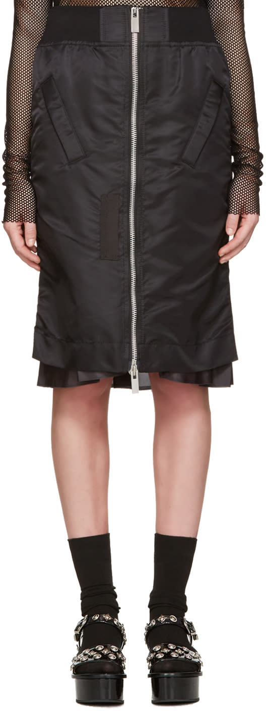 Sacai Black Ma-1 Skirt
