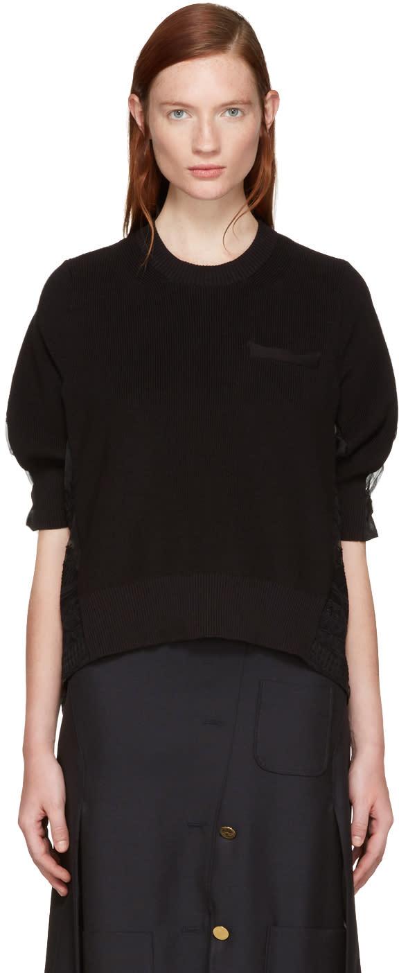Sacai Black Tribal Lace Pullover