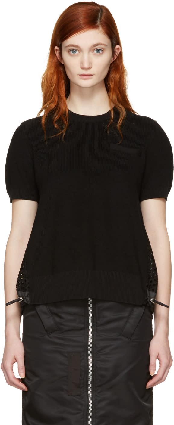 Sacai Black Dot Lace Pullover