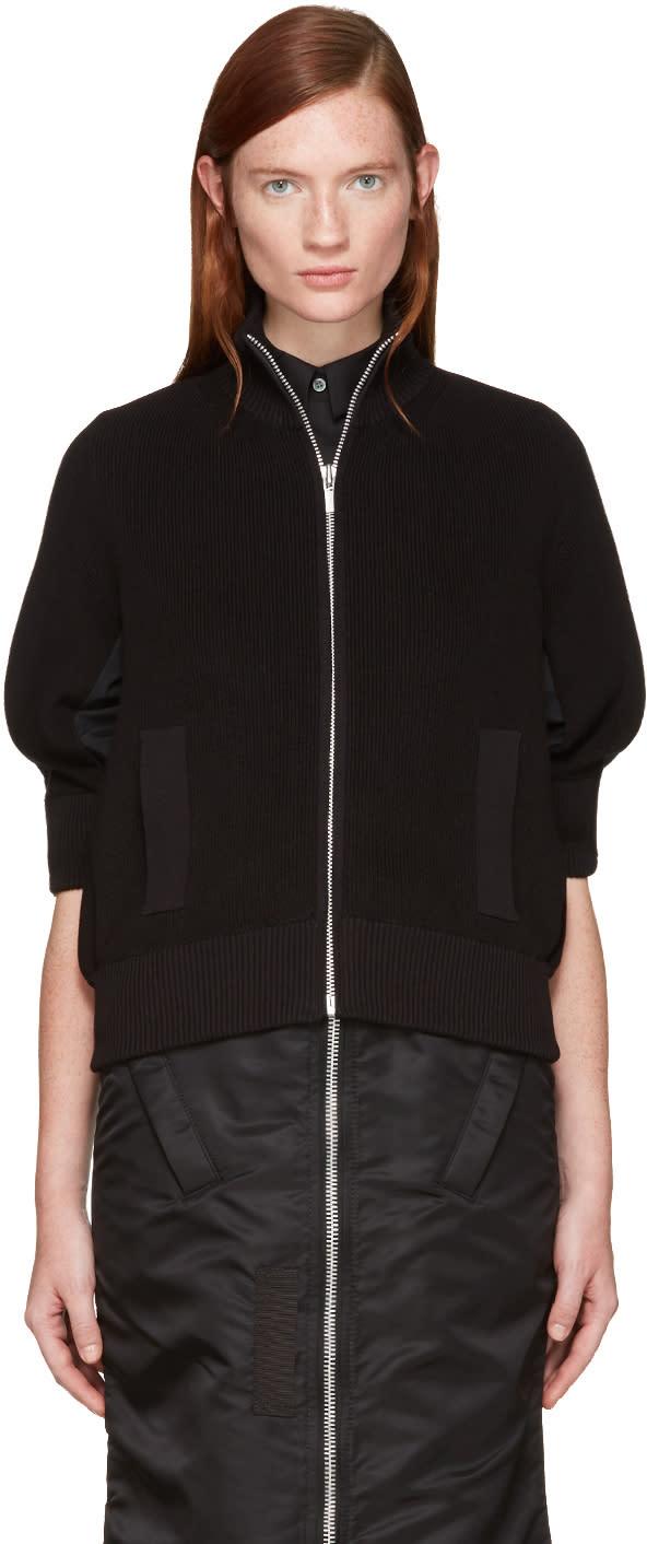 Sacai Black Knit Jacket