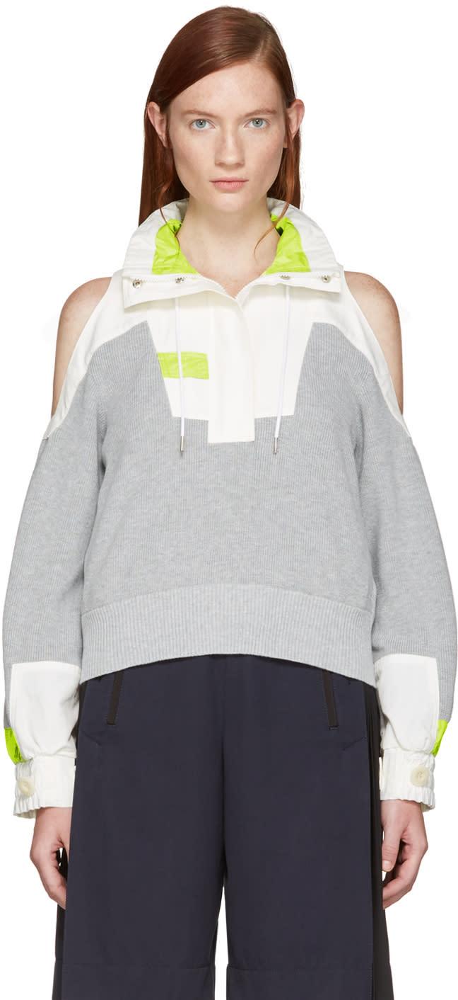 Sacai Grey Knit Pullover