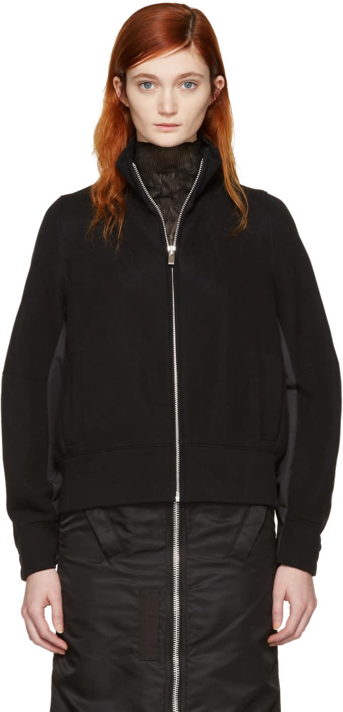 Sacai Black Zip-up Sweater