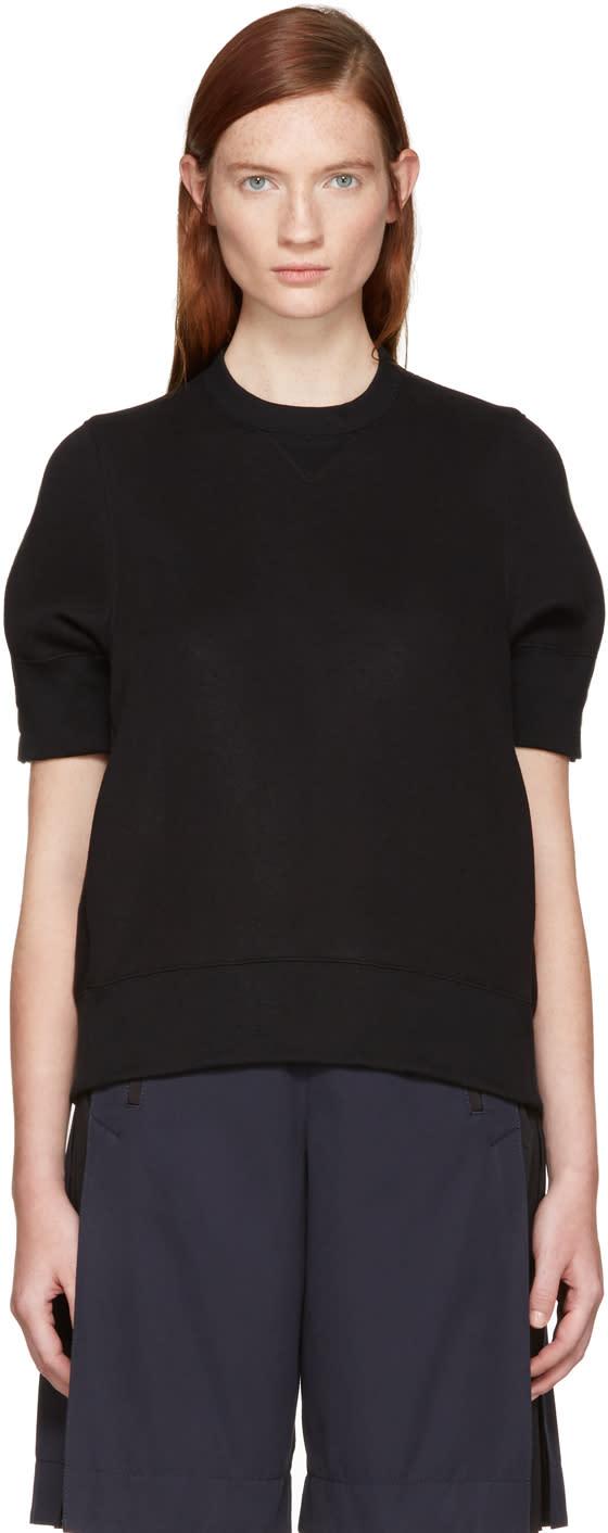 Sacai Black Panelled Pullover