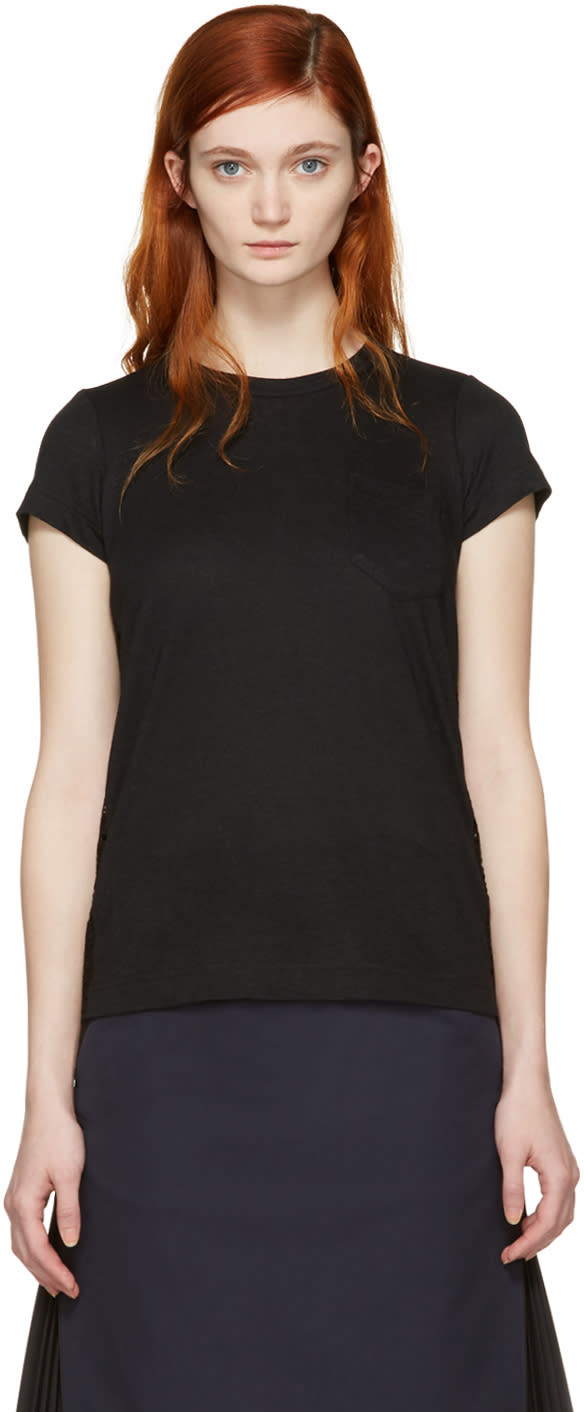 Sacai Black Dot Lace T-shirt