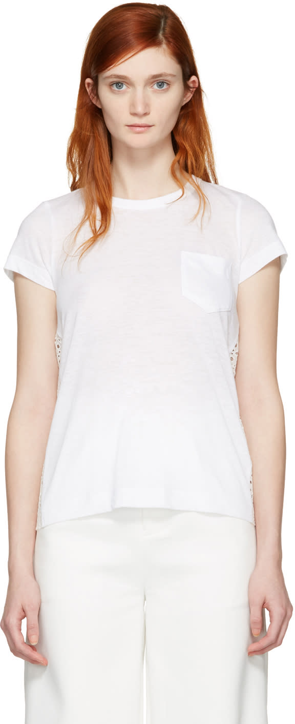 Sacai White Dot Lace T-shirt