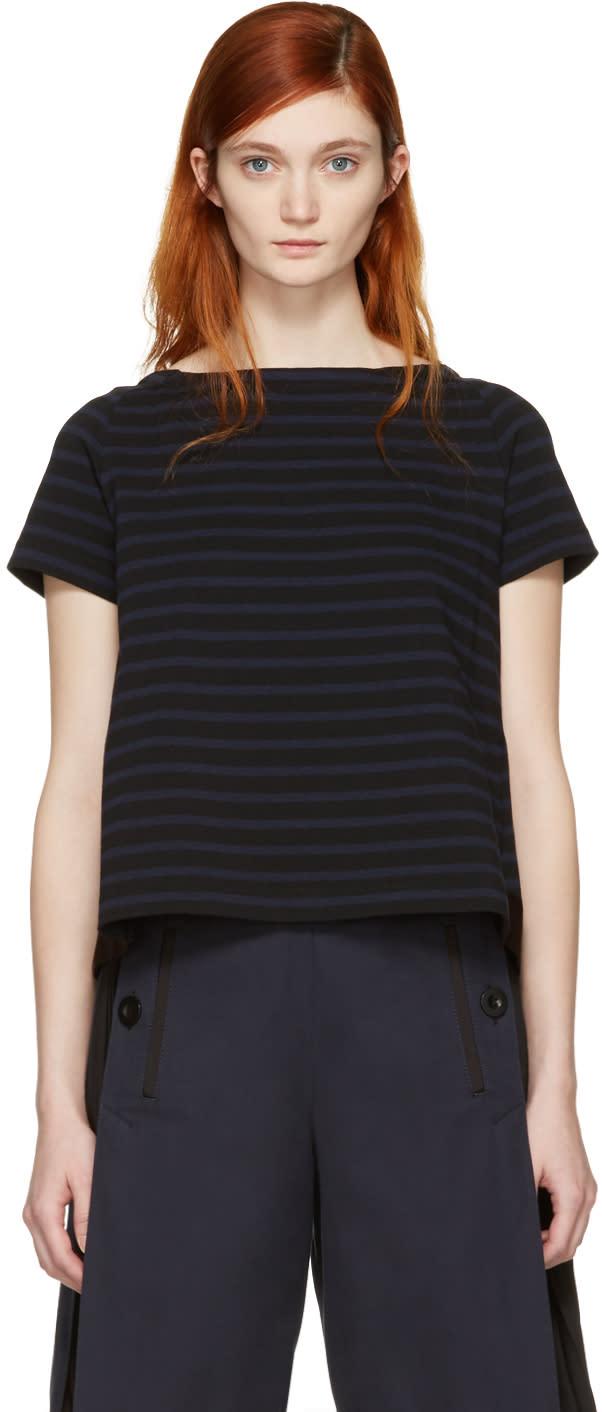 Sacai Black Striped Dixie T-shirt