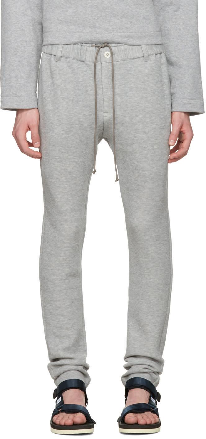 Sacai Pantalon De Survêtement Gris Sweats