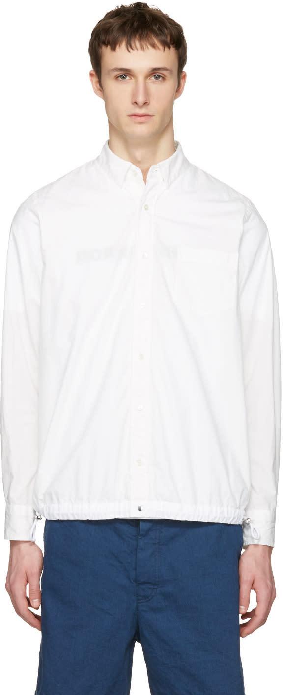Sacai White Typewriter Pattern Shirt