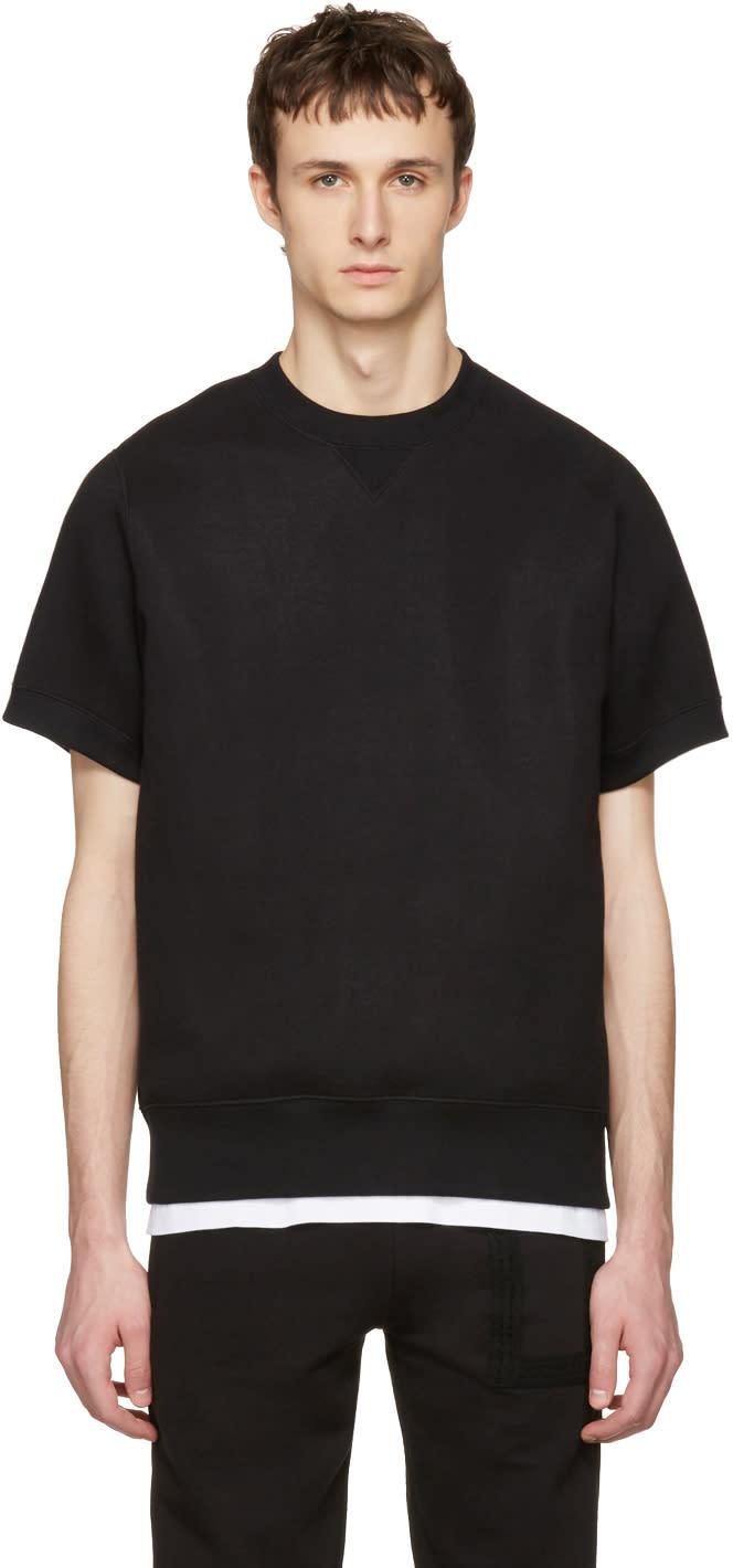 Sacai Black Sweats Short Sleeve Pullover