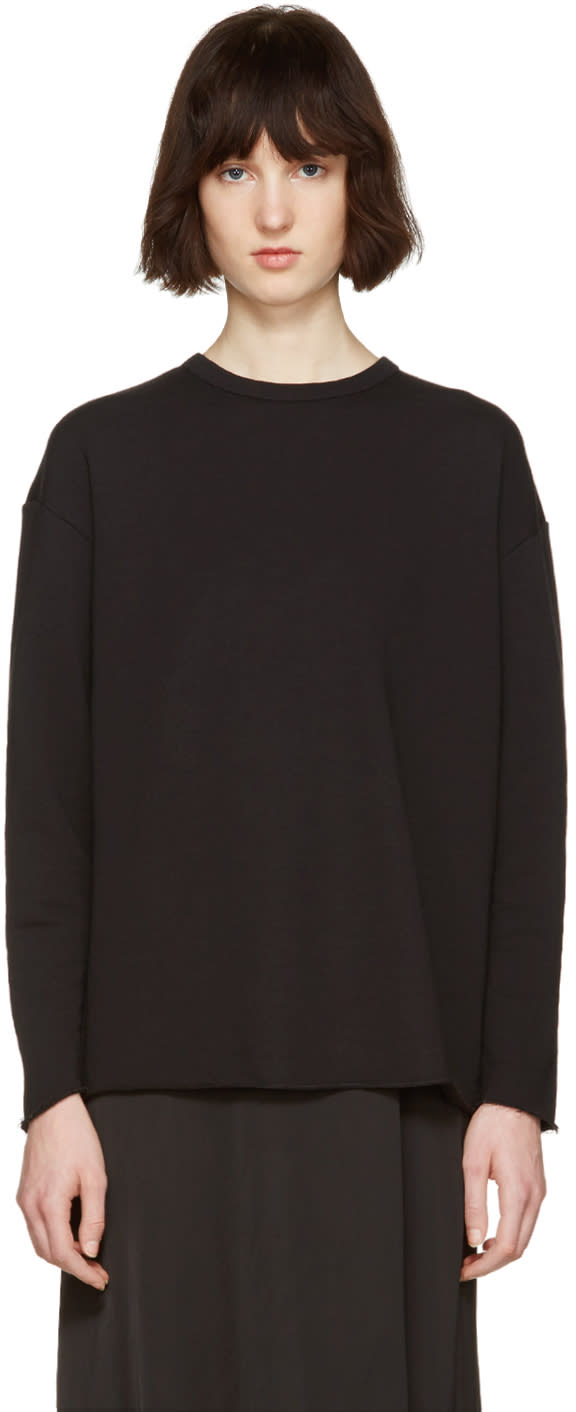 Image of 6397 Black Rolled Pullover