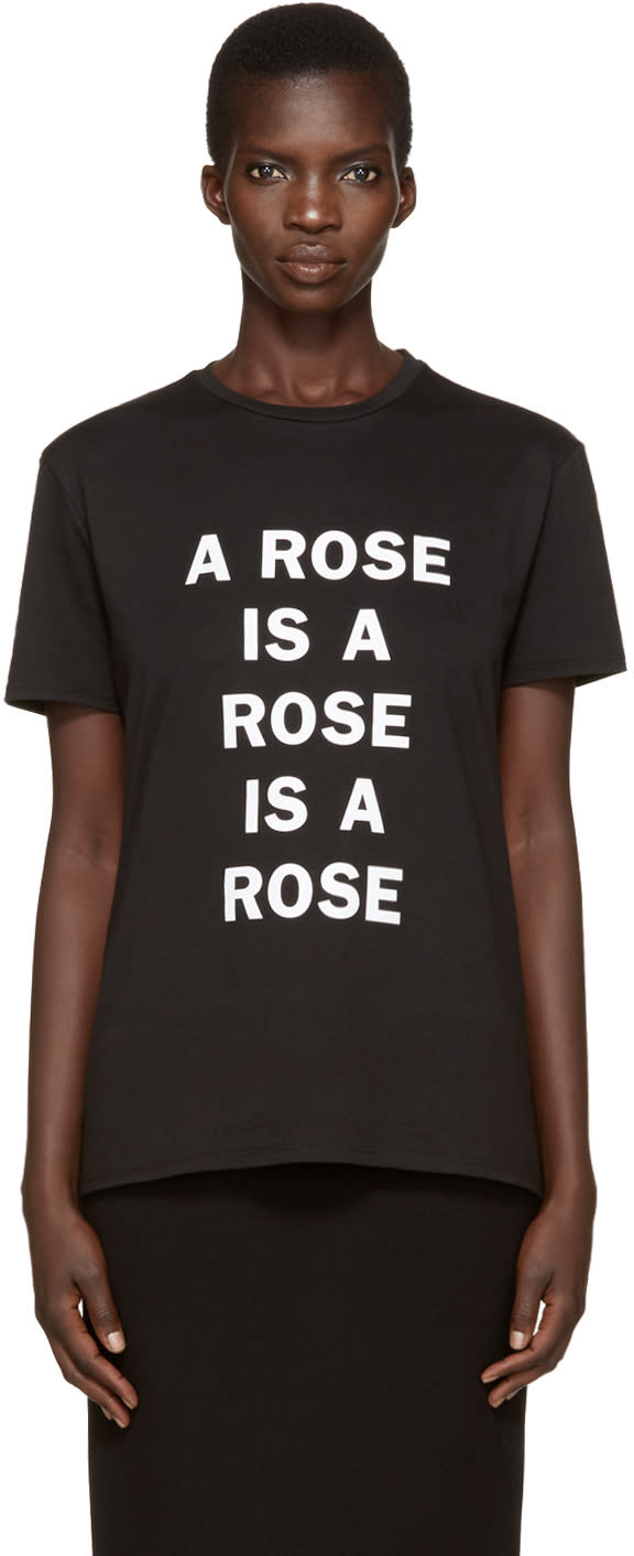 Image of 6397 Black a Rose Is T-shirt