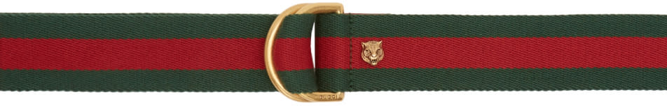 gucci female gucci green and red dring belt