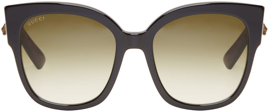 Gucci Black Large Square Sunglasses
