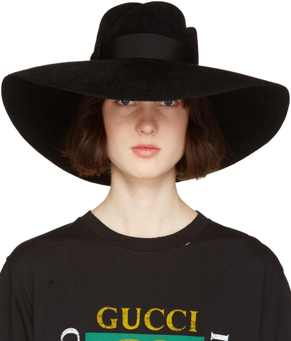 gucci female 188971 gucci black anita fedora