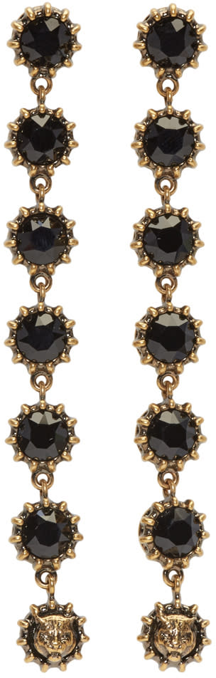 Gucci Black Crystal Earrings