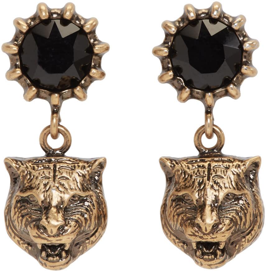 Gucci Gold Feline Earrings