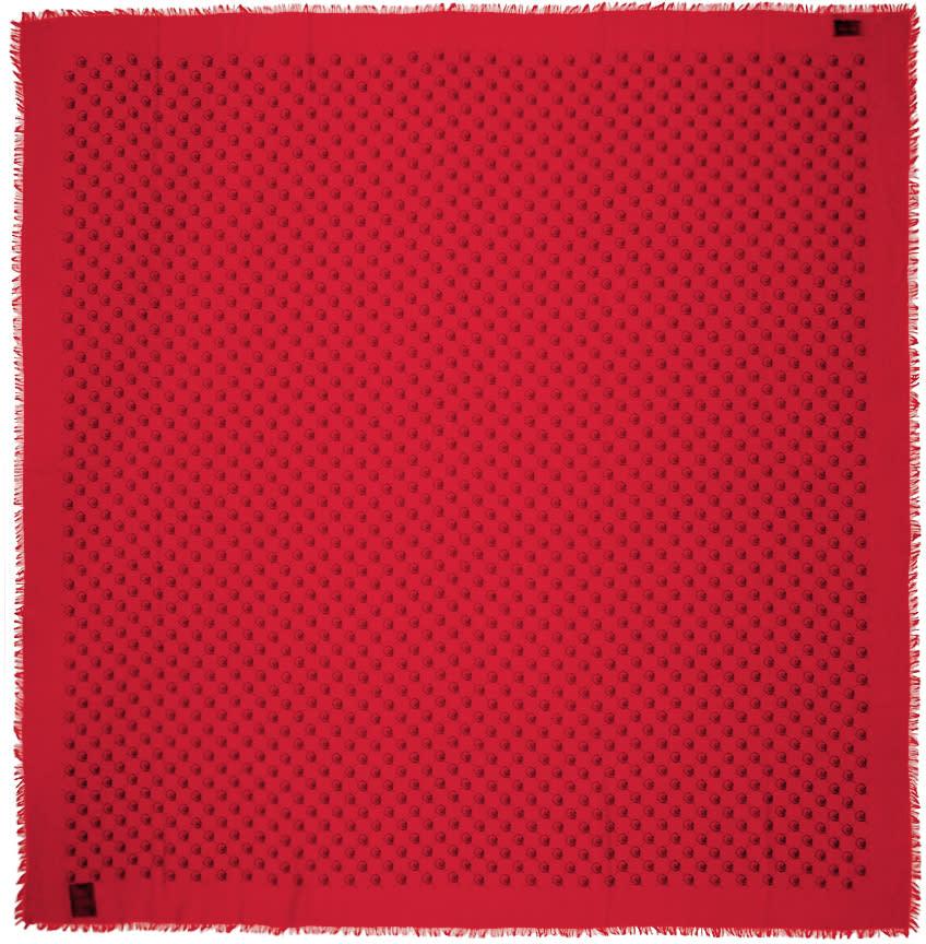 gucci female 250960 gucci red guccighost scarf