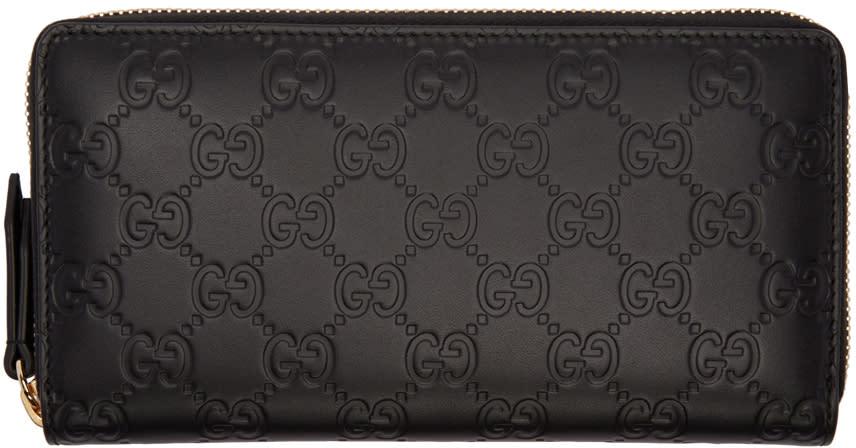 gucci female 188971 gucci black signature logo wallet