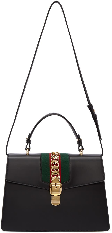 gucci female 188971 gucci black medium sylvie bag