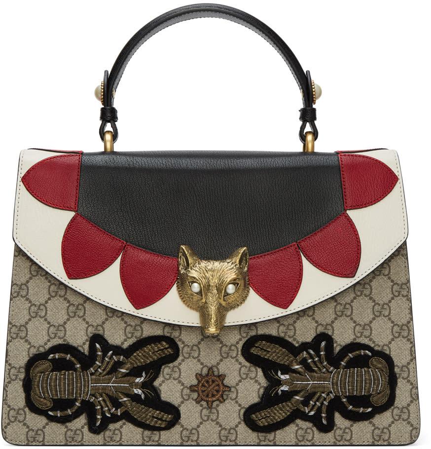 Gucci Multicolor Medium Gg Supreme Broche Bag