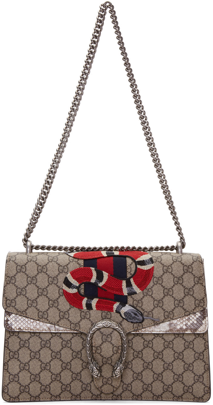 gucci female gucci brown large dionysus bag