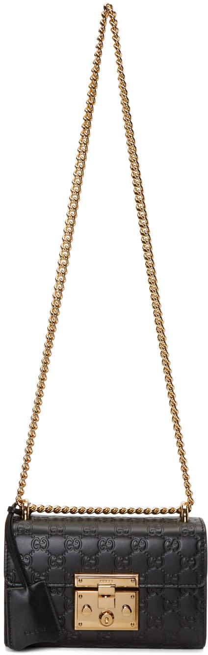 gucci female 188971 gucci black small padlock bag