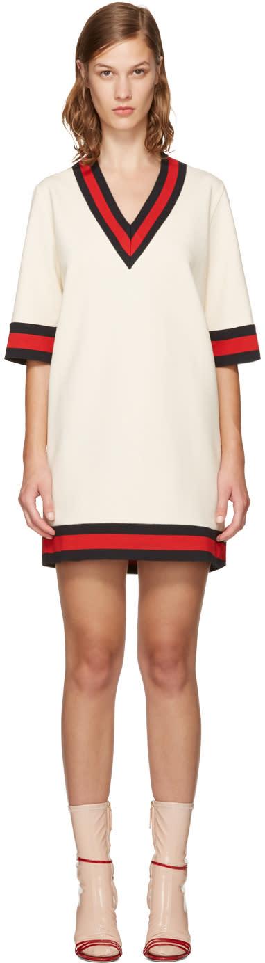 Gucci Ivory Web Stripe Dress
