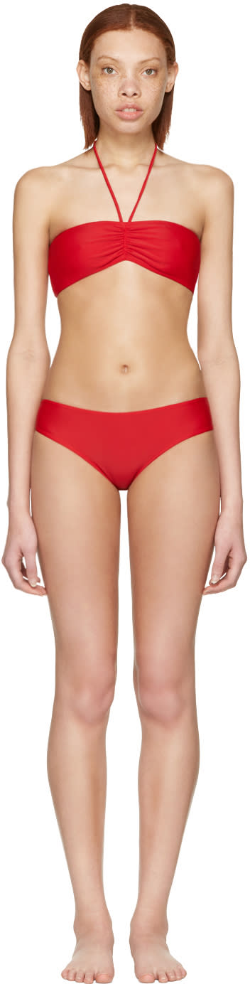 Gucci Red loved Bandeau Bikini